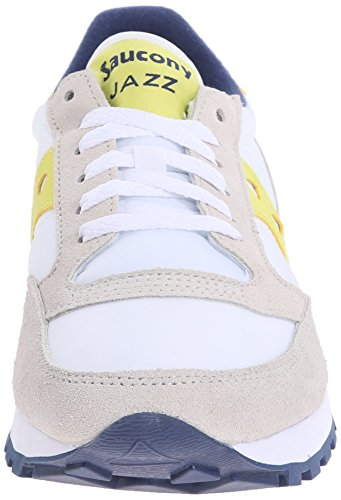 Jazz Saucony Mujer Zapatillas Blanco Para White Original Yellow Blanco fvvqP1wFdx