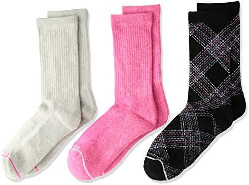 - Free Country Little Girls 3-Pack Crew Socks, Sock: 7-8.5/Shoe: 10-13, Wool Black Pretty Plaid