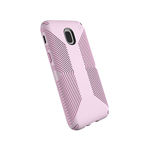 Speck Products Compatible Phone Case for Samsung Galaxy J3 (fits Verizon J3 V 3rd Gen, at&T Express Prime 3; Cricket Amp Prime 3, Sol 3; T-Mobile J3 Star), Presidio Grip Case, Ballet Pink/Ribbon Pink -