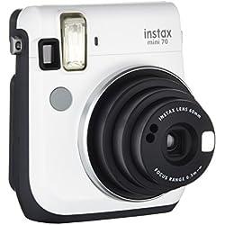 Fujifilm Instax Mini 70 Moon Fotocamera Istantanea per Stampe Formato 62x46 mm, Bianco