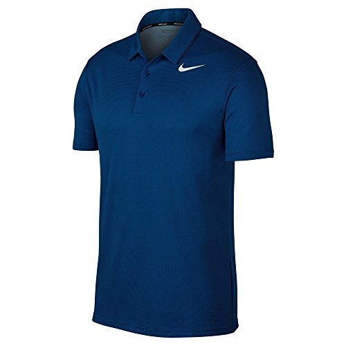 - Nike Dry Fit Textured Golf Polo 2017 Blue Jay/Hydrogen Blue/White X-Large