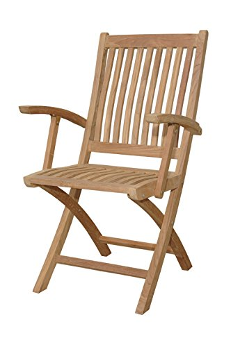 Anderson Teak Patio Lawn Garden Furniture Tropico Folding Armchair (Anderson Teak Garden Furniture)