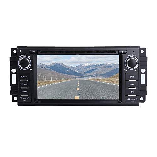 MCWAUTO Car Stereo GPS DVD Player for Dodge Ram Challenger Jeep Wrangler JK Head Unit Single Din 6.2