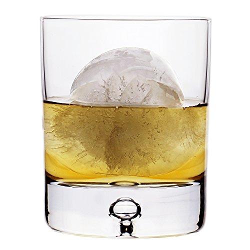 Design Crystal - Stylish European Design Crystal Glasses By Ravenscroft Crystal- Premium Bourbon, Whisky, Double Old Fashioned Glasses- Set of 4-11oz - Perfect Gift For Scotch Lovers- BONUS Microfiber Cleaning Cloth