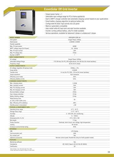 FSP 202PV-230F-24 EssenSolar Inselwechselrichter Off Grid Inverter 2 KVA/ 2000W für Photovoltaik