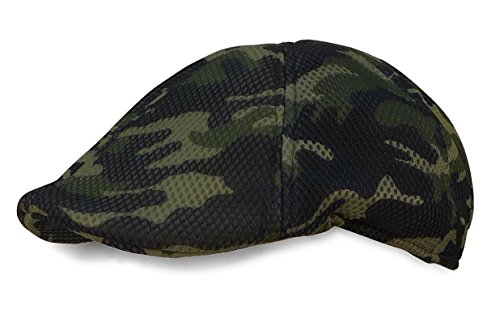 Camo Driver Hat (Camo Duckbill Ivy Driver Hat Mesh Cabby Cap (Forest camo))