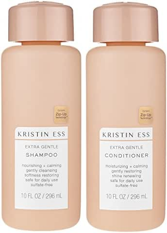 Shampoo & Conditioner: Kristin Ess Extra Gentle
