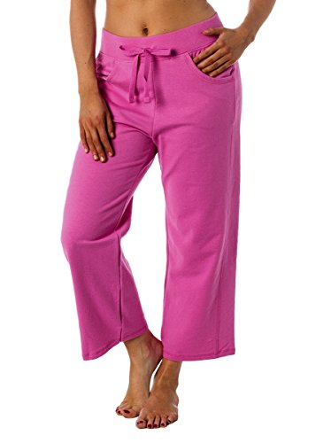 Hanes Premium Womens French Terry Capri with pockets
