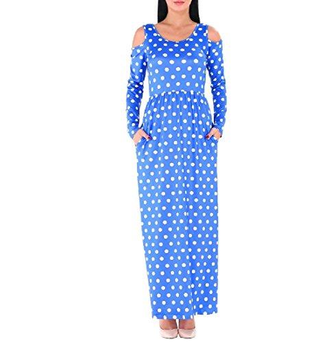 Confortables Femmes Polka D'impression Pure Taille De Couleur Dot Robes De Club De Luxe Creux Pattern2