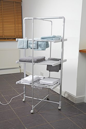 3 TIER ELECTRIC HEATED CLOTHES LAUNDRY TOWEL AIRER DRYER