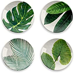 Amazon Floral - Bamboo Fiber Salad Plates S/4 Assorted Patterns
