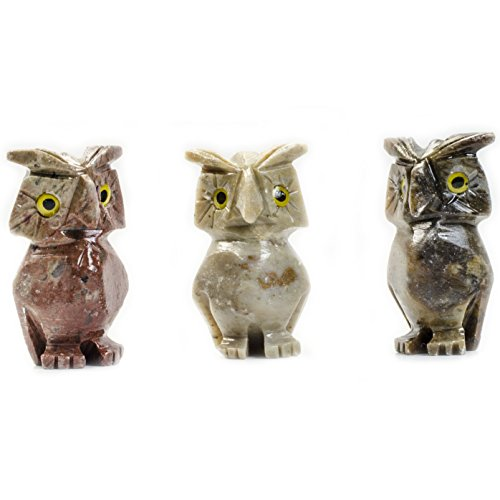 Digging Dolls : 10 pcs Artisan Owl Collectable Animal Figurine - Party Favors, Stocking Stuffers, Gifts, Collecting and More! by Digging Dolls