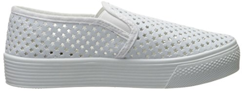Qupid Womens Stardust-01 Fashion Sneaker White