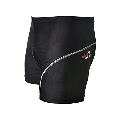 ACACIA Men Silicon 3D Padded Shorts Pants Underwear for Moto Bike Bicycle Cycling Black 3XL