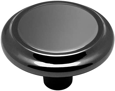 25 Pack 5422BN 1-3//16 Diameter Cosmas 5422BN Black Nickel Cabinet Hardware Mushroom Knob 25 Pack