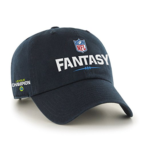 NFL Fantasy Football Champion Clean Up Hat, Navy, One Size Fits Most (Nfl Football Hats compare prices)