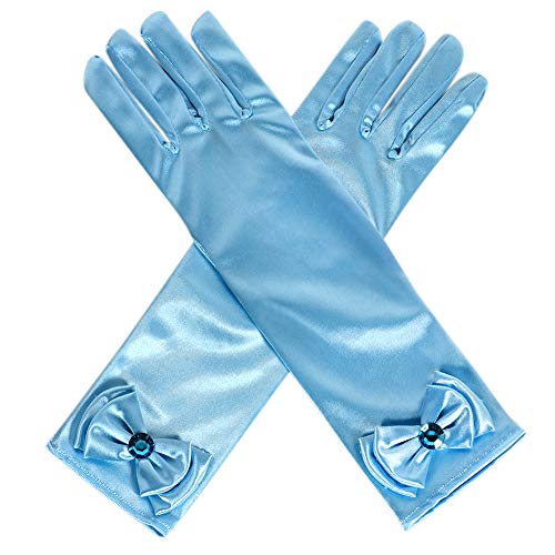 3cee119b8f Qunan Girls Long Satin Gloves Belle Elsa Anna Sofia Aurora Rapunzel  Cinderella Princess Dress Up for