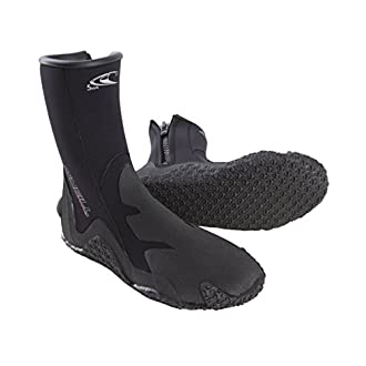 O'Neill Wetsuits Men's Dive 5mm Booties with Zipper,Black,10