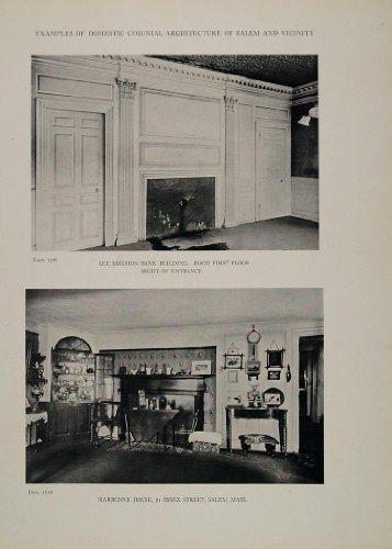 1911 Print Interiors Lee Mansion Marbonne House Mass. - Original Halftone Print Jere Wall