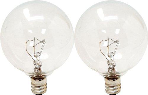GE Lighting Crystal Clear 17722 25-Watt, 195-Lumen G16.5 Lig