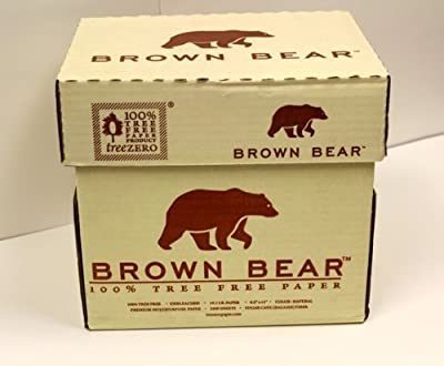 Brown Bear Tree Free and Bleach Free Premium Multipurpose Eco Friendly Copy Paper