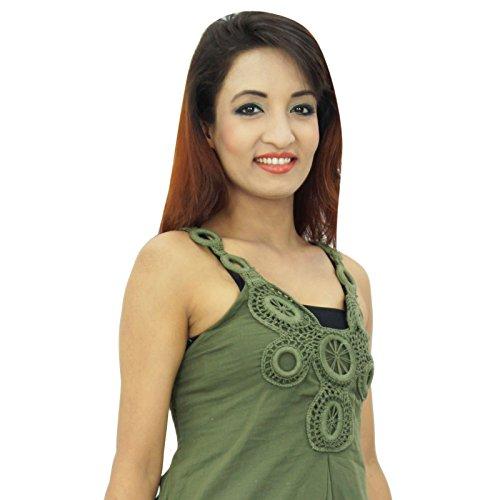 Casual Femmes Robe De Vêtements D'été Plage Verte Tunique Robe D'été
