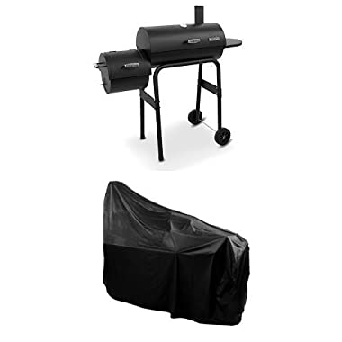 Char-Broil American Gourmet Offset Smoker, Standard + Cover