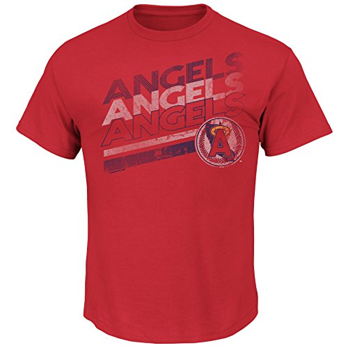 MLB California Angels Cooperstown Men's Capacity to Win Tee, Large, Red