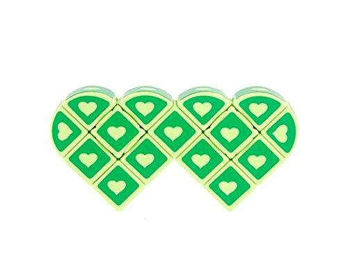 Irregularly Heart Shaped Brain Teaser Magic Cube (Green)