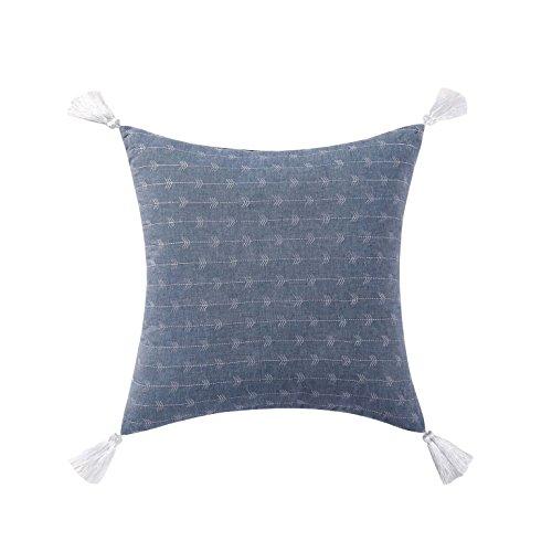 Brooklyn Loom Chambray Loft Decorative Pillow, 18x18, Blue