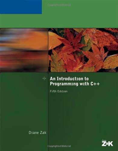 An Introduction to Programming With C++ (Available Titles Skills Assessment Manager (SAM) - Office 2010) by Brand: Course Technology Ptr