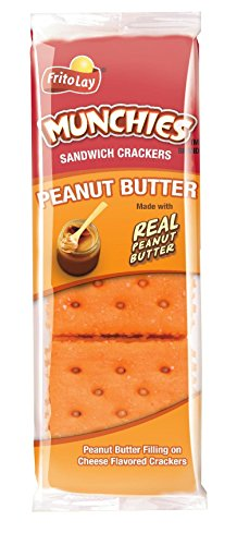 Munchies Cracker Sandwiches, Peanut Butter On Cheese, 136.32 Ounce (Pack of 96)]()