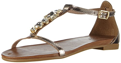 Inuovo 6200, Women's T-Bar Sandals Gold - Gold (Gold)