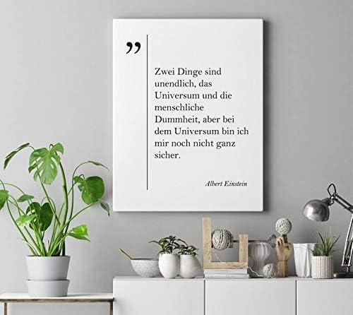 com dwiisty canvas print albert einstein quote deutsche