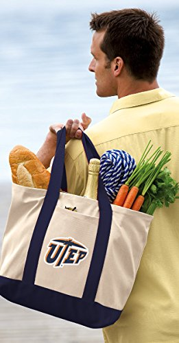 UTEP Tote Bags OFFICIAL UTEP Tote Bag by Broad Bay