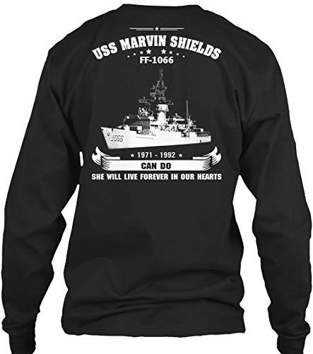 (USS Marvin Shields - Long Sleeve - Get It Now! Black)