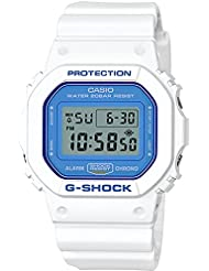 Casio G-Shock DW5600WB-7 WHITE AND BLUE SERIES Watch Square Ana-Digi Tough Resin