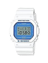 Casio G-Shock DW5600WB-7 WHITE AND BLUE SERIES Watch Square Ana-Digi Tough Resin