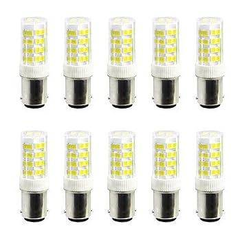 5 W luces led bi-pin 52 SMD 2835 400 - 500 LM Blanco Cálido Luz Fría V 10 piezas 180° BA15D-Bianco caldo-220V-5W: Amazon.es: Hogar