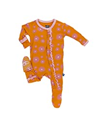 KicKee Pants baby-girls Print Muffin Ruffle Footie Prd-kpmrf391-swl