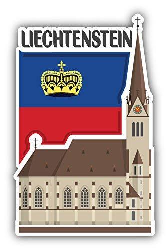 DG Graphics Liechtenstein Flag Slogan Travel Monument Art Decor 3'' x 5'' Magnet Vinyl Magnetic Sheet for Lockers, Cars, Signs, Refrigerator ()