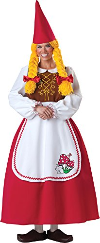 Mrs Garden Gnome Costumes (Mrs. Garden Gnome Costume - Small - Dress Size 2-6)