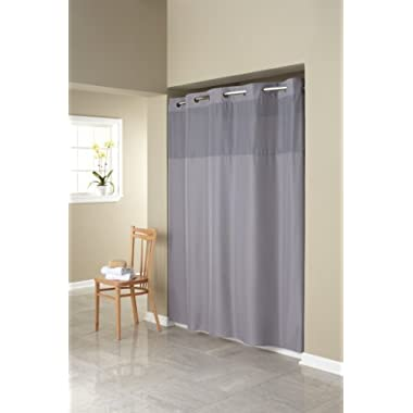 Hookless RBH40MY408 Fabric Shower Curtain with Built in Liner  -Grey