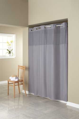 Hookless Fabric Shower Curtain With Built In Liner Grey EBay