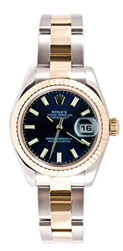 (Rolex Ladys 179173 Datejust Steel & 18k Gold, Oyster Band, Fluted Bezel & Stick Dial)