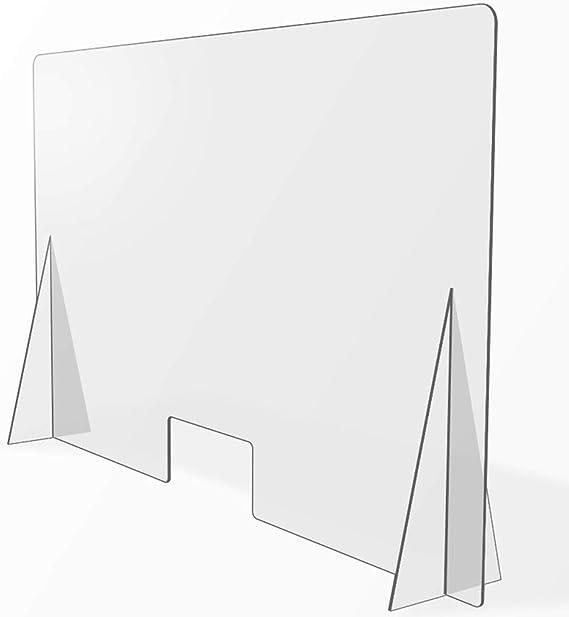 Mampara de Protección para mostradores, Policarbonato/Metacrilato 3/4 mm, Varias medidas (110cm x 75cm): Amazon.es: Salud y cuidado personal