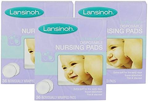 Lansinoh Ultra Soft Disposable Nursing Pads, 36 Count (3 Pack) - Lansinoh Disposable Breast Pads