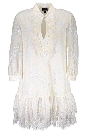 Cavalli Damen Kurtzes S04CT0726 Kleid Bianco Just 101 axqSZIq