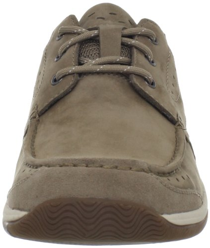 Clarks Mens Watkins Race Oxford Taupe