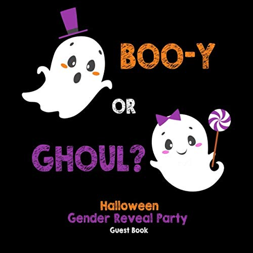 Boo-y or Ghoul?: Halloween Gender Reveal Party Guest Book